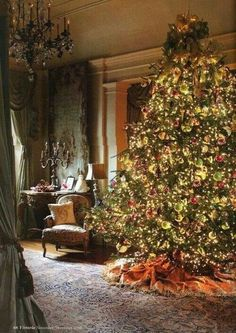 Big beautiful gaudy Christmas Tree