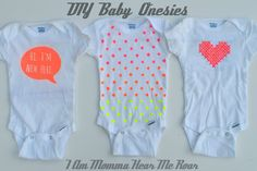I Am Momma - Hear Me Roar: DIY Baby Onesies