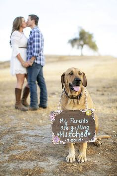 Enagement Photos with Pets / http://www.himisspuff.com/engagement-photos-with-pets-that-will-melt-your-heart/