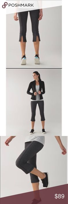 Lululemon Gather & Crow Crop II Herringbone Picturing Gather & Crow II Crops by Lululemon. Size 6. Heathered Black Herringbone rare pattern. These high-rise crops keep us covered and comfy from Crow through to Cobra. Full-On® Luon gives incredible support and coverage with a cottony-soft feel naturally breathable fabric is four-way stretch and sweat-wicking with added LYCRA® fibre for shape retention back pocket fits your phone flat seams help keep chafe in check Grab these lululemon…