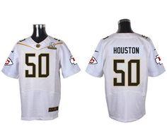 repjerseys.ru Kansas City Chiefs #50 Justin Houston White 2016 Pro Bowl Nike Elite Jersey