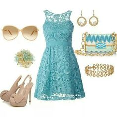 Dress for a garden party.  Like this a lot