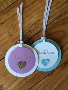 All handmade thank you tags come with white ribbon unless requested otherwise.