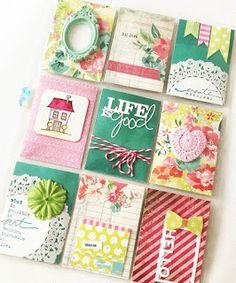 Creative Creations by Andrea Gomoll Atc Cards, Paper Cards, Journal Cards, Life Journal, Pocket Pal, Pocket Cards, Snail Mail Pen Pals, Project Life Cards, Pocket Scrapbooking