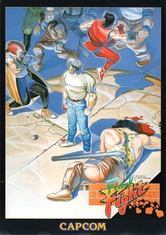 The Arcade Flyer Archive - Video Game Flyers: Final Fight, Capcom Vintage Video Games, Retro Video Games, Video Game Posters, Video Game Art, Game Design, Akira, Final Fight, Archive Video, Retro Arcade Games