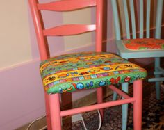 Sweet Child Chair Hand Painted Yellow Whimsical by Here4U on Etsy