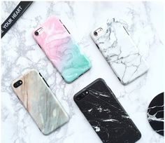 Cases, Covers & Skins For Iphone 7 7 Plus Stylish Marble Ice Cream Granite Coral Soft Couple Cover Marble Iphone Case, Marble Case, Iphone 7 Plus, Granite, Marble Pattern, E Bay, Iphone Phone Cases, Apple Iphone 6, 6s Plus