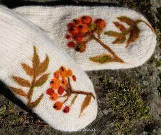 For Rowan. knit with needle felted rowan