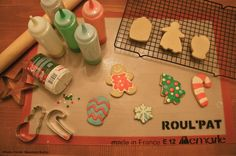Use Roul'Pat non-stick countertop mat when decorating holiday cookies.