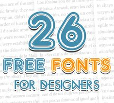 Free Fonts For Logos Posters and Typography Designs #fontsfordesigners #freefonts #fonts