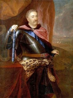AKG Anonymous: John III Sobieski / Painting / , Canvas on Stretcher, Framed Picture, Glass Print and Wall Paper. Monuments, Poland History, Tiger Skin, Akg, European History, Male Face, Historical Clothing, Art Reproductions, Paintings