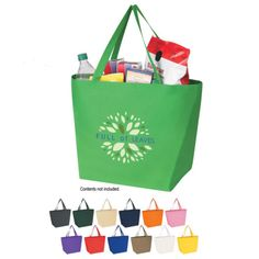 100 Reusable Shopping Tote Bags Personalized Imprinted Promotional Item | eBay  $178 for 100 bags