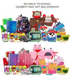 Awesome Back to School Celebrity Kids' Gift Bag Giveaway
