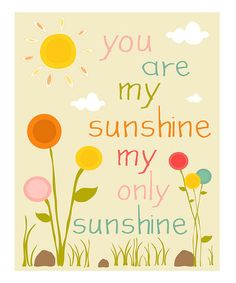 Take a look at this Pink & Cream 'You Are My Sunshine' Flower Print by Finny and Zook on #zulily today!