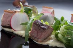 If you are looking for the perfect lunch the parsnip puree duck breast is exactly what you need. A soft and delicious parsnip puree alongside a gamey duck breast with crispy pickled radishes and fresh greens. Parsnip Puree, Pickled Radishes, Quick Meals, Cooking Recipes, Food, Fast Meals, Fast Foods, Chef Recipes, Essen