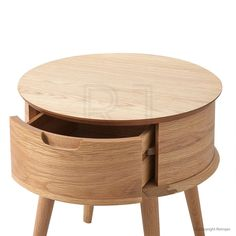 Malmo Ziggy Contemporary Design Bedside Table - Drawer Open