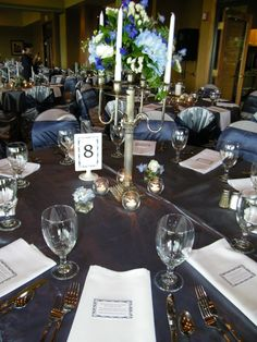Candelabra centerpiece from LUXE Floral.  Event Design by Luxe Event Productions, LLC.  (c) Luxe Event Productions, LLC.