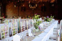 Dasha Caffrey - A colourful village hall wedding in Kent with lots of DIY and a tea length wedding gown. Photography by Dasha Caffrey.