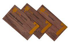 visitekaartje hout