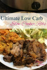 Low Carb Slow Cooker Ribs Slow Cooker Ribs, Low Carb Slow Cooker, Chronic Pain, Fibromyalgia, Cubed Sweet Potatoes, Chops Recipe, Pork Chop Recipes, Low Carb Recipes, Diabetic Recipes