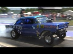 ▶ 2013 PA Gasser Nationals AA/GS Q1 Onboard Steve Crook Blew By You Mike Hall Nostalgia Drag Racing - YouTube
