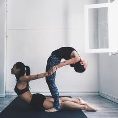 "sassyyogi: "" Kickstarted the first day of our #WeAreBetterStronger 10 Day Challenge strong with some team practice this morning, ft partner stretching with @sandrarileytang  (Instagram: @sassyyogi) (at The Yoga Co.) """