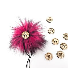 Orchid Pink Faux Fur Pom Poms – Warehouse 2020 Pink Faux Fur, Faux Fur Pom Pom, More Code, Black Nylons, Pom Poms, Warehouse, Orchids, Hot Pink, Detail