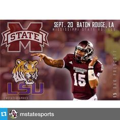 #Repost from @mstatesports with @repostapp---It's the week of the showdown! Time to put up or shut up! The atmosphere in Tiger Stadium will be electric! Let's pull the upset and get to ATL! #hailstate