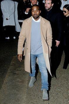 Kanye West attends the Maison Martin Margiela Fashion Show