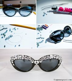 02863099b06ee DIY  SUNGLASSES WITH STRASS www.pinstyle.com Dsquared Sunglasses