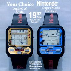 Nintendo Vintage Watch is better than Smartwach Video Vintage, Vintage Video Games, Retro Video Games, Vintage Games, Super Mario Bros, Super Mario Brothers, Apple Watch, Nintendo Sega, Super Nintendo