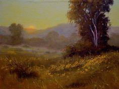 """""""Central Coast Sunset"""" Ron Guthrie Original Oil Painting  www.guthrieart.com  http://www.guthrieart.blogspot.com/"""