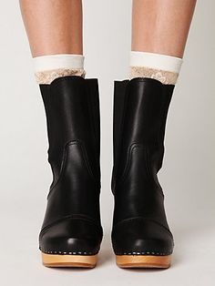 Swedish Hasbeens Cilla Chelsea Boot at Free People Clothing Boutique