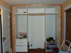 Image result for basic d i y built in wardrobe