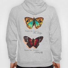 Nymphalidae butterflies Hoody