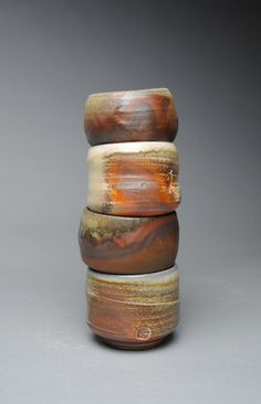 Wood Fired Sake Cup Set Shot Cup Condiment Set by JohnMcCoyPottery. www.etsy.com/shop/JohnMcCoyPottery