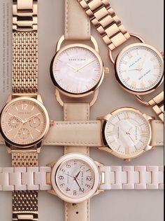 Anne Klein´s watches, love it! - Burcu Biçer - - Anne Klein´s watches, love it! Trendy Watches, Elegant Watches, Beautiful Watches, Cool Watches, Watches For Men, Cheap Watches, Wrist Watches, Woman Watches, Rolex Watches