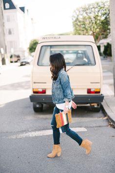 Kicking it Off in Denim | Crystalin Marie