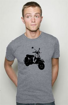 Mens Vespa Scooter T Shirt American Apparel S M L by AwesomeSwagg, $22.00