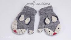Wolf Mittens // thepapermama.com