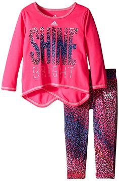 Adidas Baby Girls' Long Sleeve Top and Legging Set >>> Hurry! Check out this great product : Baby clothes