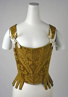 Corset  Date: early 18th century Culture: Spanish Medium: silk