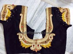 Maggam Work Rich Blouse in Black | Saree Blouse Patterns