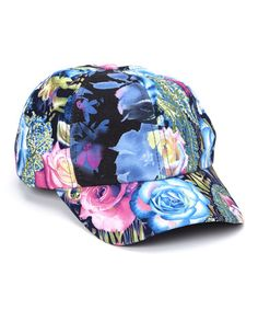 Look what I found on #zulily! Blue & Fuchsia Floral Baseball Cap by Karma Kreations #zulilyfinds