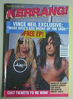 Vine Neil and Nikki Sixx Kerrang! Magazine