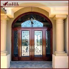 resultado de imagen para puertas modernas entrada hierro madera y cristal