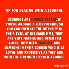 Tips For Dealing With A Scorpio :