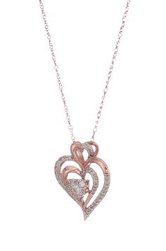 Rose Gold Diamond Heart Pendant Necklace I-J Color, Clarity), Real Gold Jewelry, Heart Jewelry, Jewelry Necklaces, Diamond Pendant Necklace, Gold Necklace, Jewelry Design Drawing, Gold Bangles Design, Pandora Necklace, Gold Models