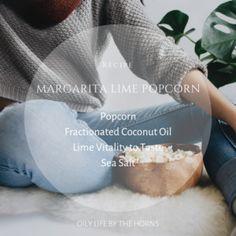 Favorite Oily Recipes — Living Life By The Horns Fractionated Coconut Oil, Margarita Recipes, Bean Bag Chair, Lime, Popcorn, Horns, Kettle Popcorn, Lima, Horn