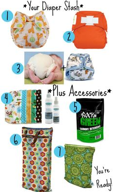 Cloth Diaper Essentials...ideas for newborn diapers.